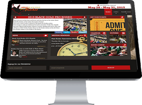 Leduc Black Gold Professional Rodeo Assc Homepage designed by Industrial NetMedia