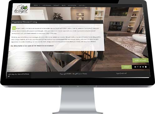 Industrial NetMedia's stylish home page they developed for Bengel Custom Homes