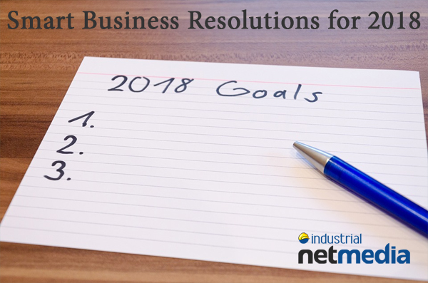 New Year`s resolutions for business people from Industrial NetMedia