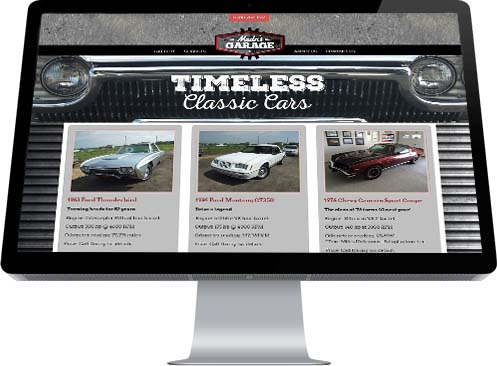 INM of Edmonton/Leduc created this classic homepage for Madn's Garage in Leduc County
