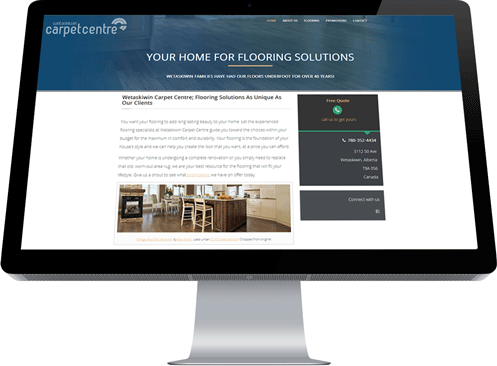 This Home Page was created by Edmonton-area web designer and marketer, Industrial NetMedia