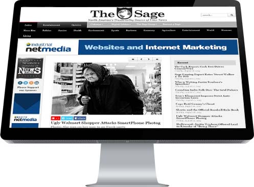 An ugly old woman is featured in the Sage's front page about Walmart Photos
