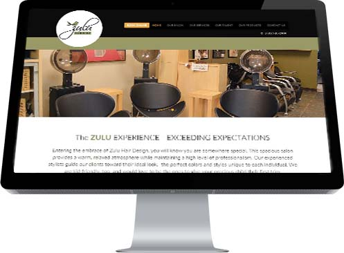A banner picture of the inside of Zulu Hair Design Studio in Leduc