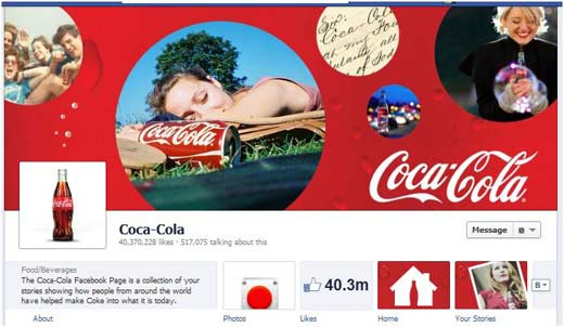 facebook cover photo - coke