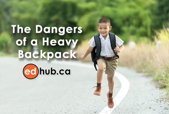 what are the dangers to a heavy backpack