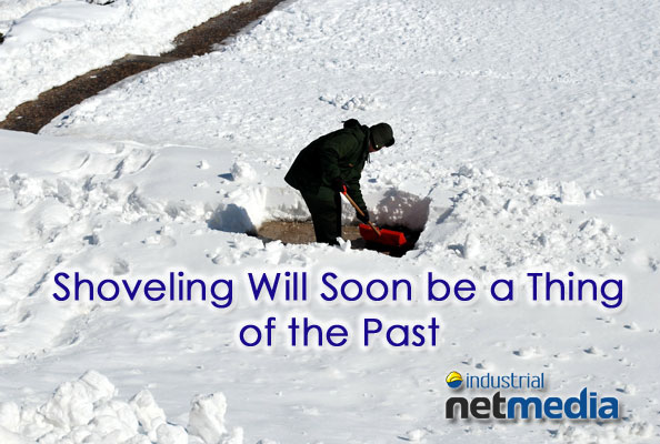 Shoveling snow will soon be a thing of the past with new tech advances