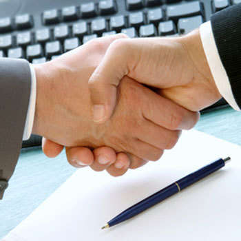 A handshake is the ideal symbol of the personalized service available from website design company INM of Edmonton