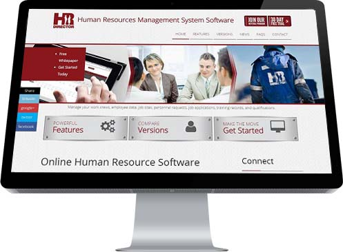 A trio of images including people in and out of the office shows those who would benefit from automated HR software.