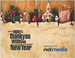 Greeting cards from Industrial NetMedia are great to send you customers and clients.