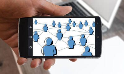 social media marketing connects people all over the world through a smart device