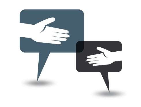 These helping hand symbols perfectly reflects the assistance available for website improvement from INM of Nisku.