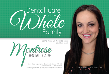 Montrose Dental Centre -Post Card front view created by Industrial NetMedia